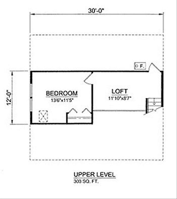 Cottage Floor Plan - Upper Floor Plan Plan #116-220