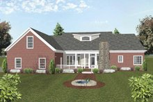 Dream House Plan - Traditional Exterior - Rear Elevation Plan #56-693