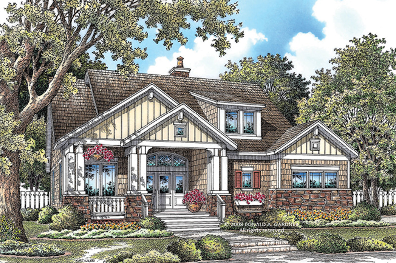 Craftsman Exterior - Front Elevation Plan #929-917