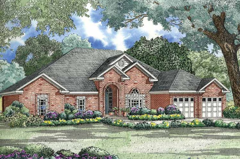 Ranch Exterior - Front Elevation Plan #17-2792 - Houseplans.com