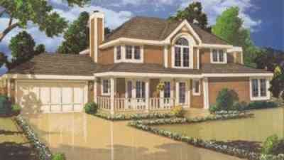 Country Exterior - Front Elevation Plan #3-138