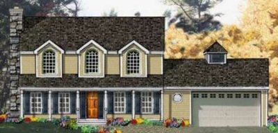 Colonial Exterior - Front Elevation Plan #3-180