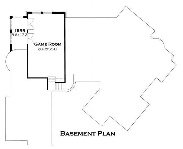Dream House Plan - European Floor Plan - Lower Floor Plan #120-177