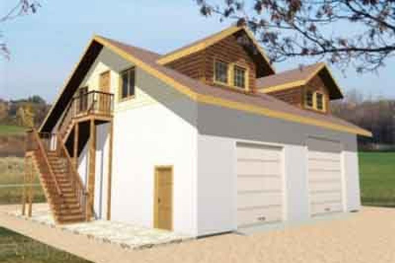 Traditional Exterior - Front Elevation Plan #117-175 - Houseplans.com