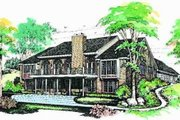 Ranch Style House Plan - 3 Beds 3.5 Baths 4062 Sq/Ft Plan #72-213 Exterior - Rear Elevation