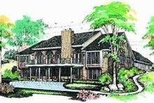 Ranch Exterior - Rear Elevation Plan #72-213