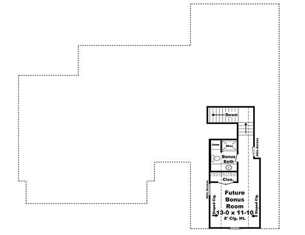 Craftsman Floor Plan - Upper Floor Plan #21-292