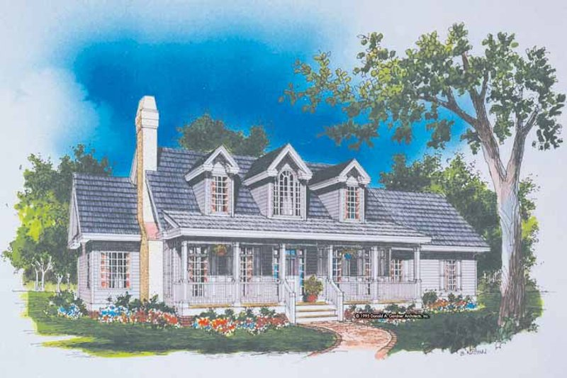 Country Exterior - Front Elevation Plan #929-490