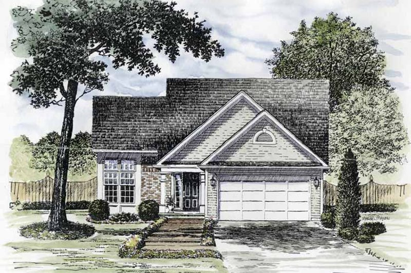 House Plan Design - Traditional Exterior - Front Elevation Plan #316-164