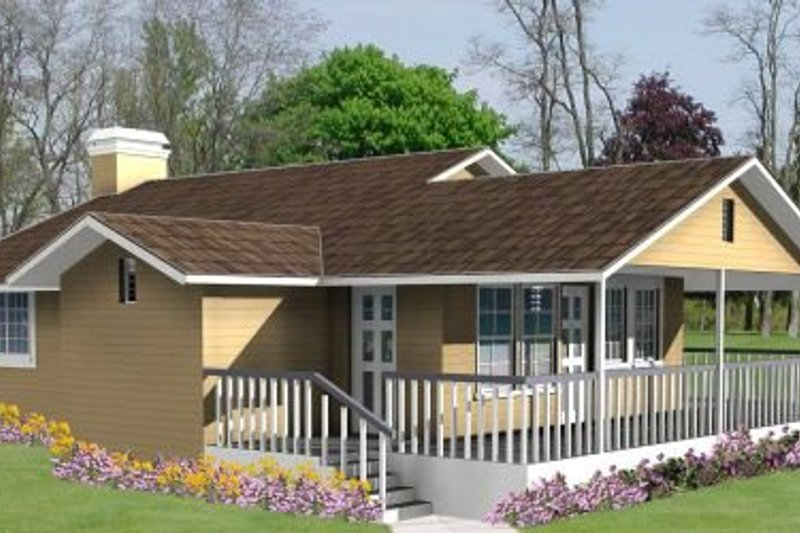 Traditional Style House Plan - 3 Beds 2 Baths 1387 Sq/Ft Plan #1-247