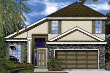 Contemporary Exterior - Front Elevation Plan #1015-45