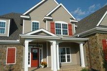 House Plan Design - European Exterior - Front Elevation Plan #927-931