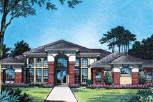 House Plan Design - Mediterranean Exterior - Front Elevation Plan #417-510