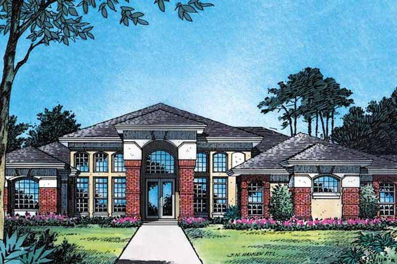 House Plan Design - Mediterranean Exterior - Front Elevation Plan #417-510