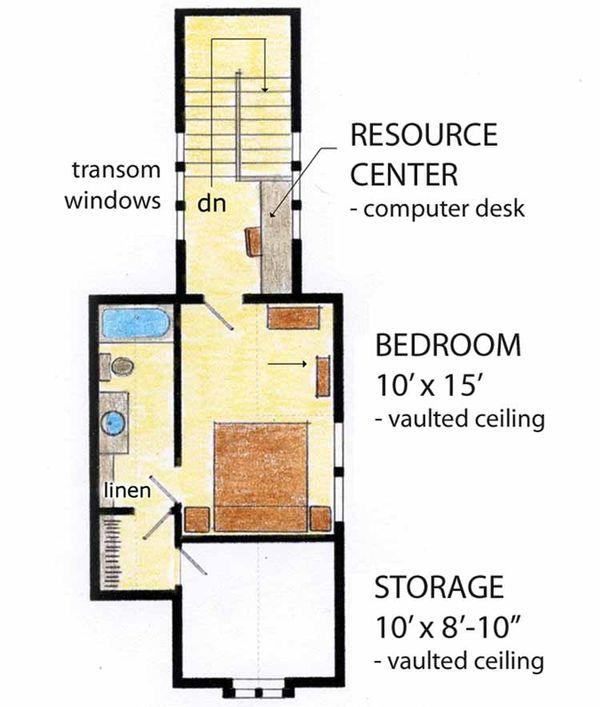 House Plan Design - Cottage Floor Plan - Upper Floor Plan #410-3568