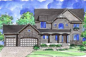 Dream House Plan - European Exterior - Front Elevation Plan #320-1478