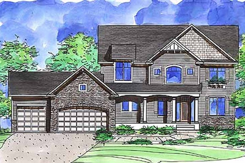 European Exterior - Front Elevation Plan #320-1478