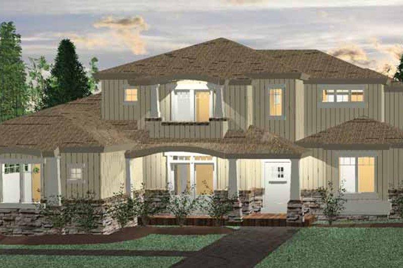 House Plan Design - Prairie Exterior - Front Elevation Plan #937-34