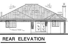 Home Plan Design - Mediterranean Exterior - Rear Elevation Plan #18-143