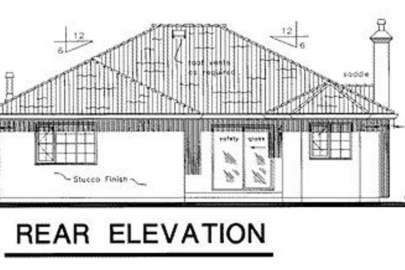 Mediterranean Exterior - Rear Elevation Plan #18-143 - Houseplans.com
