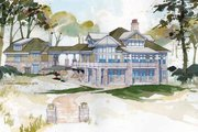 Craftsman Style House Plan - 4 Beds 3.5 Baths 3719 Sq/Ft Plan #928-175 Exterior - Rear Elevation