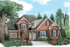 European Exterior - Front Elevation Plan #927-438