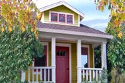 Bungalow Style House Plan - 1 Beds 1 Baths 356 Sq/Ft Plan #915-10 Exterior - Front Elevation