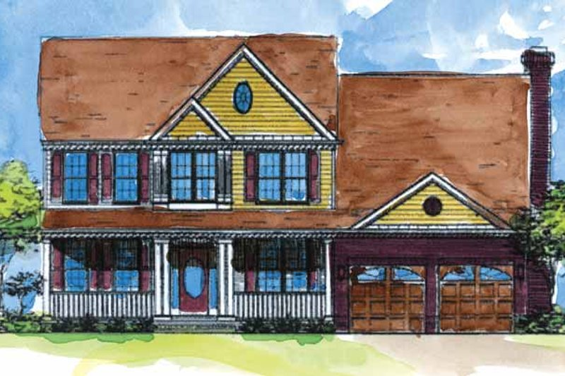 Colonial Exterior - Front Elevation Plan #320-906