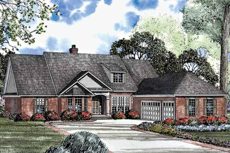 Country Exterior - Front Elevation Plan #17-2941 - Houseplans.com