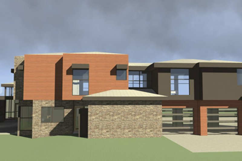 Contemporary Exterior - Other Elevation Plan #64-324 - Houseplans.com