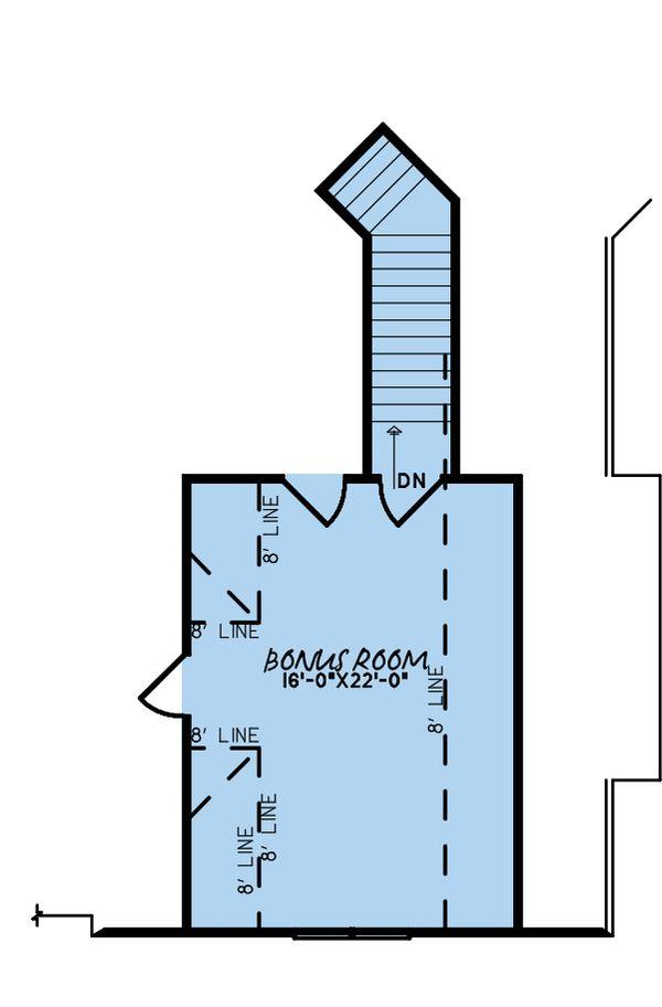 House Plan Design - European Floor Plan - Upper Floor Plan #923-180