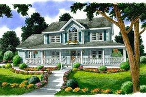 Country Exterior - Front Elevation Plan #312-471
