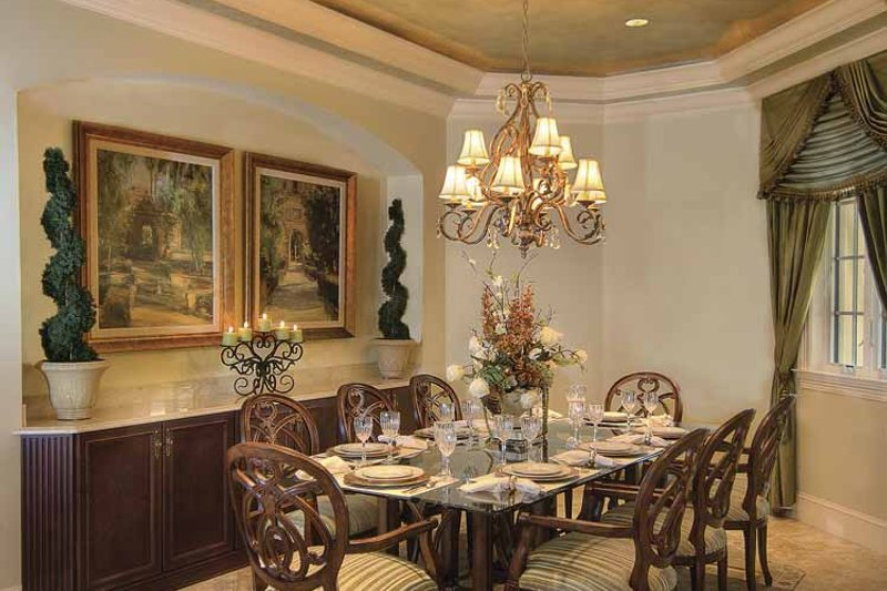 Mediterranean Interior - Dining Room Plan #930-421 - Houseplans.com