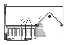 Victorian Exterior - Rear Elevation Plan #1047-27