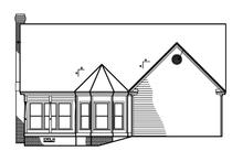 Victorian Exterior - Rear Elevation Plan #1047-27