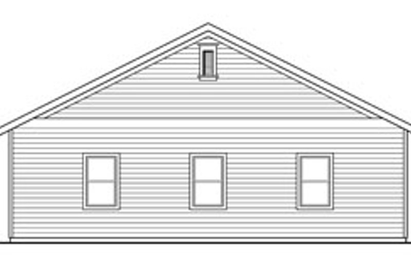 Traditional Exterior - Other Elevation Plan #124-791 - Houseplans.com