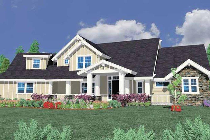 Prairie Exterior - Front Elevation Plan #509-381 - Houseplans.com