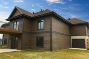 Ranch Style House Plan - 4 Beds 3 Baths 2191 Sq/Ft Plan #70-1498 Exterior - Rear Elevation