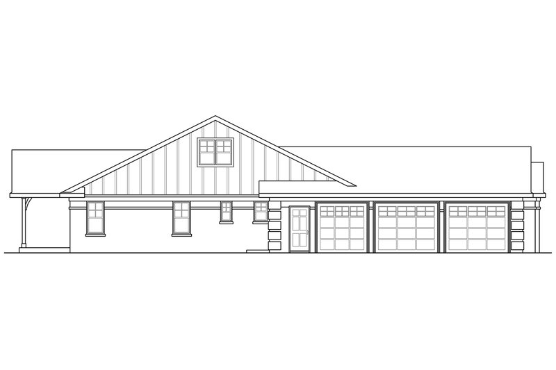 Ranch Exterior - Other Elevation Plan #124-900 - Houseplans.com