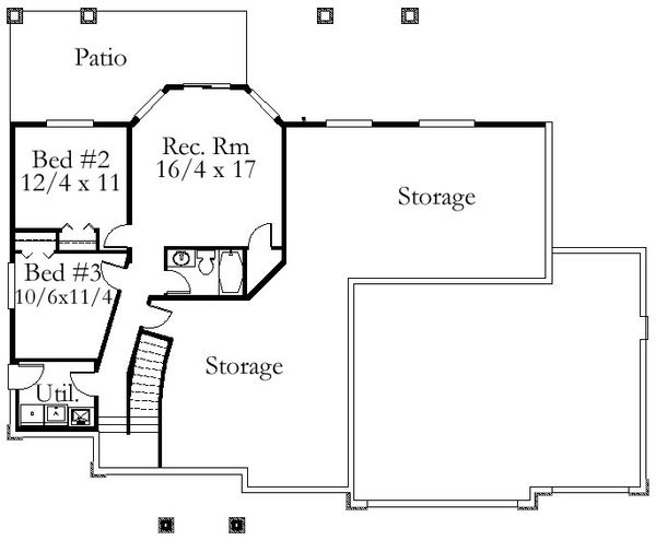Floor Plan - Lower Floor Plan Plan #509-67