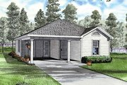 Traditional Style House Plan - 3 Beds 2 Baths 1070 Sq/Ft Plan #17-2248 Exterior - Front Elevation
