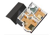 Traditional Style House Plan - 2 Beds 1 Baths 1105 Sq/Ft Plan #25-4470 Floor Plan - Upper Floor Plan