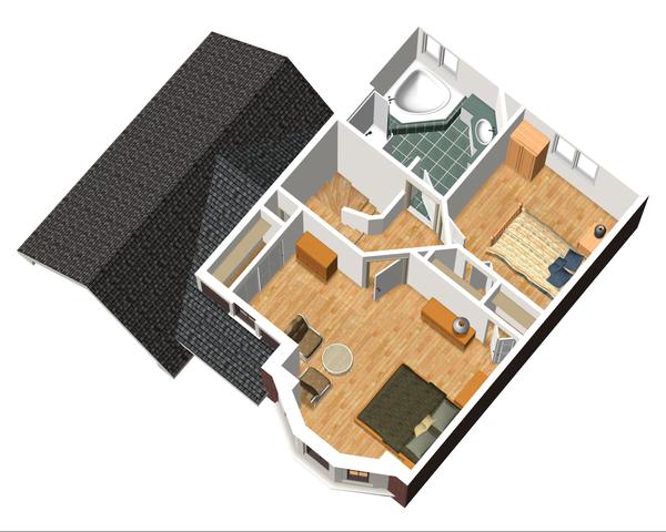 Traditional Floor Plan - Upper Floor Plan Plan #25-4470