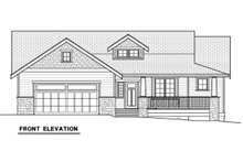 Craftsman Exterior - Front Elevation Plan #1070-17