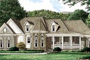 Country Exterior - Front Elevation Plan #34-145