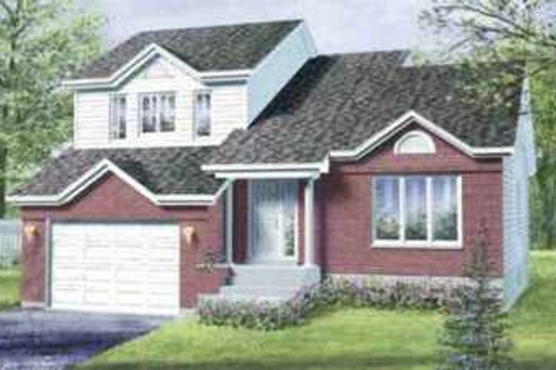 House Plan - 3 Beds 2 Baths 1886 Sq/Ft Plan #25-3014 Exterior - Front Elevation