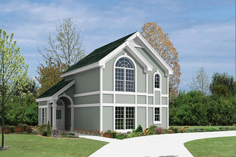 Traditional Style House Plan - 1 Beds 1 Baths 902 Sq/Ft Plan #57-291