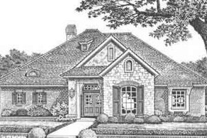 European Exterior - Front Elevation Plan #310-419