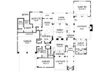 Mediterranean Floor Plan - Main Floor Plan Plan #120-163