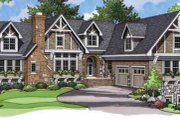 European Style House Plan - 4 Beds 5.5 Baths 6217 Sq/Ft Plan #51-206 Exterior - Front Elevation